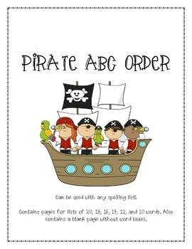 PIRATE ABC ORDER