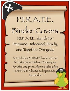 PIRATE Binder Cover & PIRATE Rules {Pirate Theme}