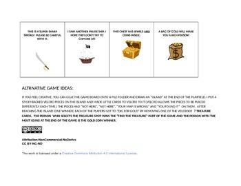 PIRATE COVE ARTICULATION GAME BOARD