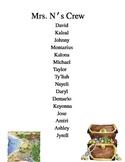 PIRATE Class List Template