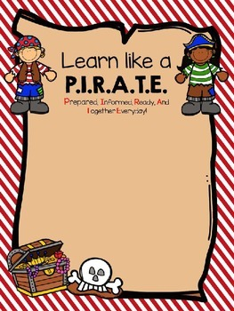 PIRATE Editable Student Notebook Cover