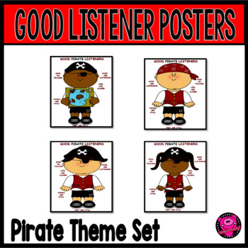 PIRATE GROWTH MINDSET LISTENING POSTERS