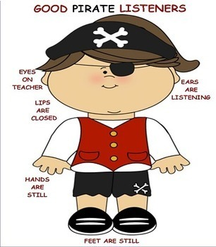 Good Listeners Pirate Theme Visuals for Emerging Readers
