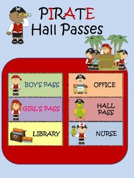 PIRATE Hall Passes