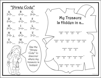 PIRATE MATH PACKET {Addition, Subtraction, Skip Counting, Tallying, and More!}