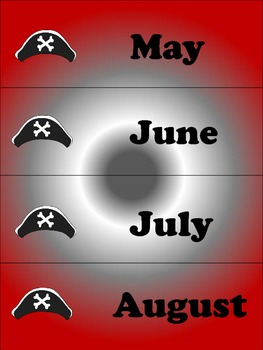 PIRATE Months of the Year Cards