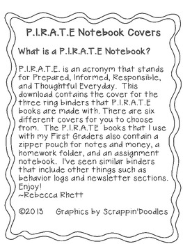 PIRATE Notebook Cover