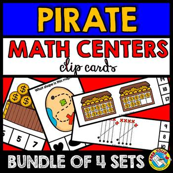 TALK LIKE A PIRATE DAY ACTIVITIES (KINDERGARTEN PIRATE MATH CENTERS BUNDLE)