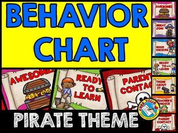 PIRATE THEME BEHAVIOR CHART: BACK TO SCHOOL BEHAVIOR MANAGEMENT CHART