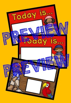 PIRATE THEME CALENDAR SET (CLASSROOM DECOR)