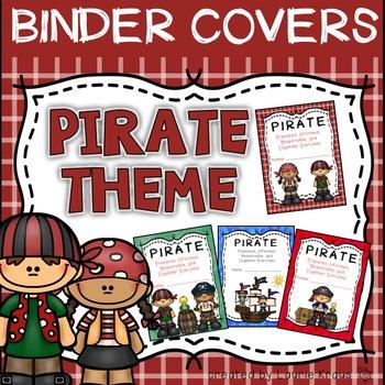 PIRATE Theme Binder Covers