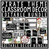 Pirate Theme Classroom Decor - Editable Classroom Motivati