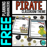 PIRATE Theme Decor Planner by Clutter Free Classroom