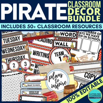 PIRATE THEME Classroom Decor EDITABLE