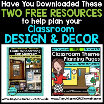 FAIRY TALE THEME Decor - 3 EDITABLE Clutter-Free Classroom Decor BUNDLE