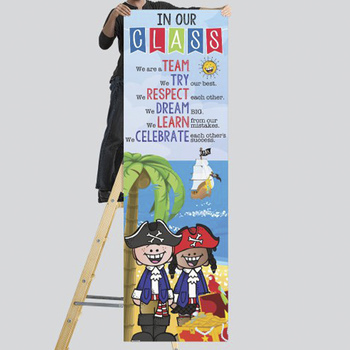 PIRATE kids - Classroom Decor: XLARGE BANNER, In Our Class, printable