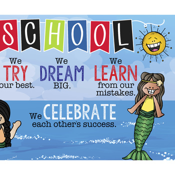 PIRATE kids theme - Classroom Decor: LARGE BANNER, In Our School, printable