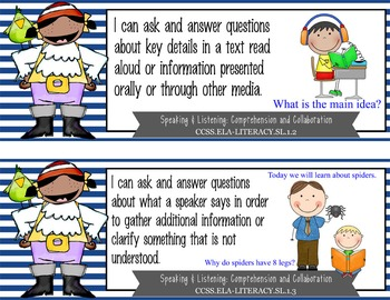 "PIRATES - 1st Grade Common Core Standards ""I CAN"" format / posters"