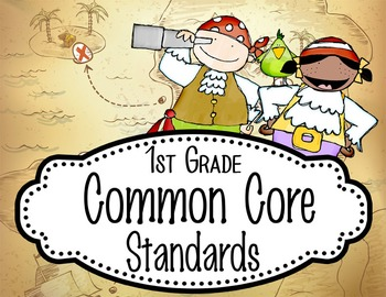 """PIRATES - 1st Grade Common Core Standards """"I CAN"""" format /"""