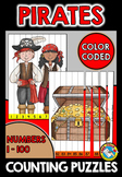PIRATES COUNTING PUZZLES: NUMBERS 1 TO 100: PIRATE THEME M