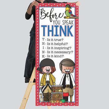 PIRATES AHOY - Classroom Decor: LARGE BANNER, Before You Speak