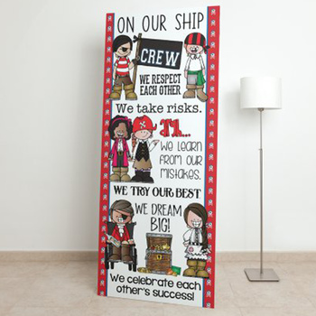 PIRATES AHOY - Classroom Decor: LARGE BANNER, On Our Ship