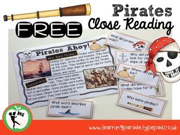 PIRATES AHOY! Free Nonfiction Close Reading Activities