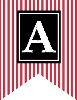 PIRATES- Alphabet Flag Banner, A to Z, monogram