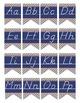 PIRATES - Alphabet Flag Banner, handwriting, A to Z, D'Nealian manuscript