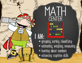 PIRATES - Classroom Decor: Center Signs, student cards