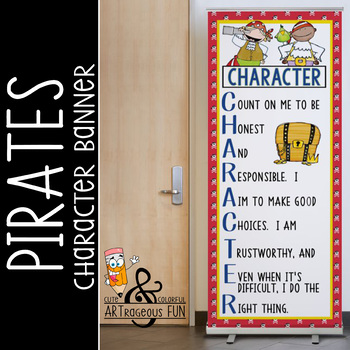 PIRATES - Classroom Decor: LARGE BANNER, CHARACTER