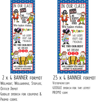 PIRATES - Classroom Decor: LARGE BANNER, In Our Class...