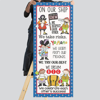 PIRATES - Classroom Decor: LARGE BANNER, On Our Ship