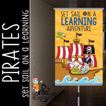 PIRATES - Classroom Decor: MEDIUM BANNER, Set Sail on a Learning Adventure
