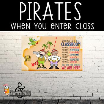 PIRATES - Classroom Decor: SMALL BANNER, When You Enter ...