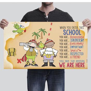 PIRATES - Classroom Decor: SMALL BANNER, When you enter this school ...