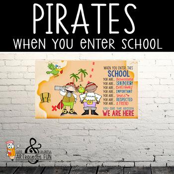 PIRATES - Classroom Decor: SMALL BANNER, When you enter th