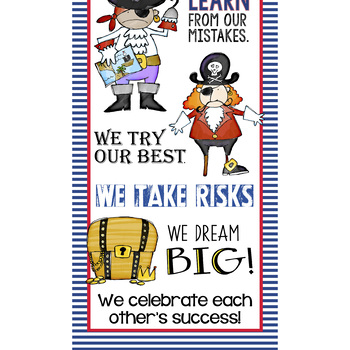 PIRATES - Classroom Decor: X-LARGE BANNER, In Our Class