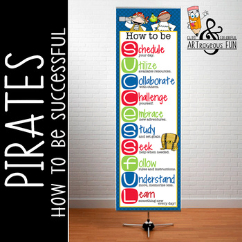 PIRATES - Classroom Decor: XLARGE BANNER, How to be Successful