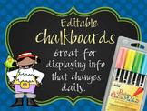 PIRATES - Classroom Decor: editable chalkboard  POSTERS / Bistro Chalk Markers