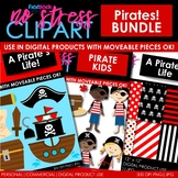 PIRATES Clipart Plus Digital Papers BUNDLE