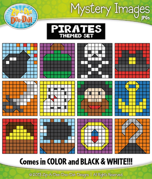 PIRATES Create Your Own Mystery Images Clipart Set