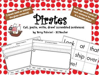 PIRATES ~ Cut, Paste, Write, Draw! Scrambled Sentences