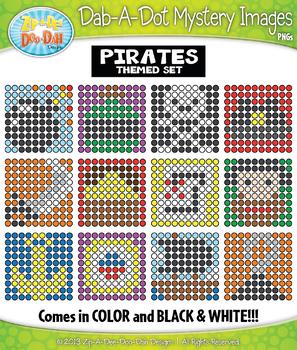 PIRATES Dab-A-Dot Mystery Images Clipart {Zip-A-Dee-Doo-Dah Designs}