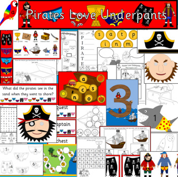 PIRATES LOVE UNDERPANTS book study