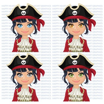PIRATES / Matey /  Female / Girl / Clipart  – Happy Heart Graphics