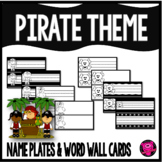 PIRATE/PIRATES - NAME PLATES {BLACK and WHITE}