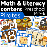 PIRATES PRESCHOOL PACK | hands-on learning | MATH & LIT CE