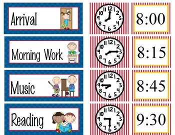 PIRATES - Schedule Cards / editable MS WORD / Illustrated