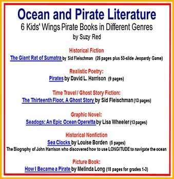 PIRATES!  Six Literature Guides for Celebrated Pirate Books in different genres